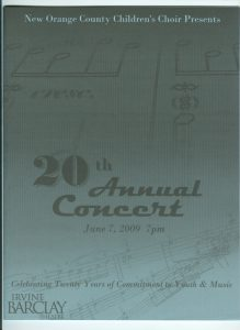 2009 Annual Concert Cover